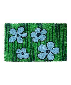 This Blue Floral Nonslip Coir Doormat is perfect! #zulilyfinds