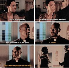TWD season 5 - Sasha and Father Gabriel. The Walking Dead.
