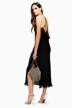 20f76ce9eca PETITE Plain Satin Slip Dress. Black ...