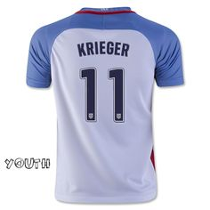 87e5f40407c 2016 17 USA Home Ali Krieger Youth Soccer Jersey ( 11) Soccer Shop