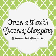 If you want to save money on your grocery bill, check out this method... I'd say we've cut our grocery budget significantly just by shopping once a month!