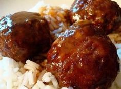 Meatballs with sauce made from ketchup and brown sugar. I just buy the frozen meatballs and throw them in the crockpot with the sauce in the recipe.