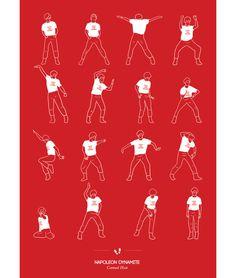 Dancinhas ilustradas de filmes e seriados | IdeaFixa | ilustração, design, fotografia, artes visuais, inspiração, expressão