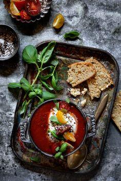 Tomato Soup with Black Truffle Burrata / Bakers Royale
