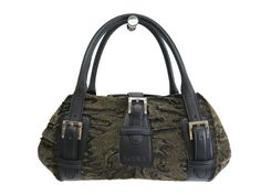#LOEWE Senda Hand bag Fur/Calfskin Lhaki/Black (BF106594): #eLADY global offers free shipping worldwide. For more pre-owned luxury brand items, visit http://global.elady.com