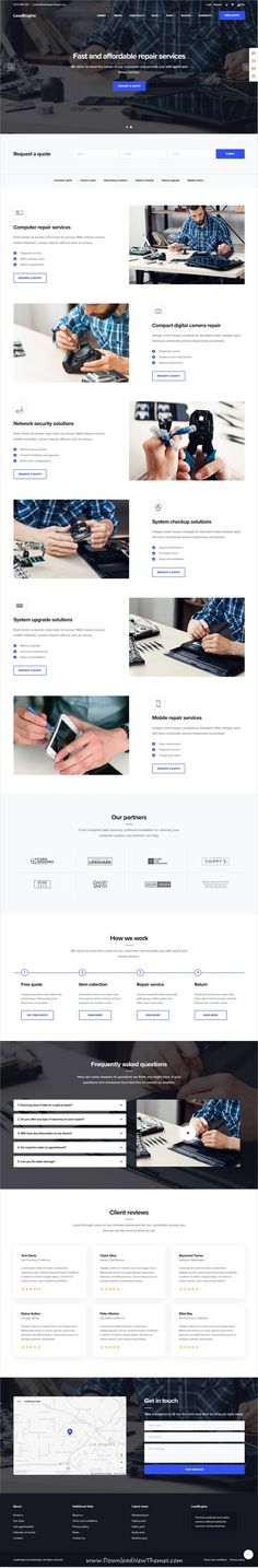 LeadEngine is a clean and modern design responsive multipurpose #WordPress #template for #IT service #company website with 30+ niche homepage layouts and page builder to download & live preview click on image or Visit