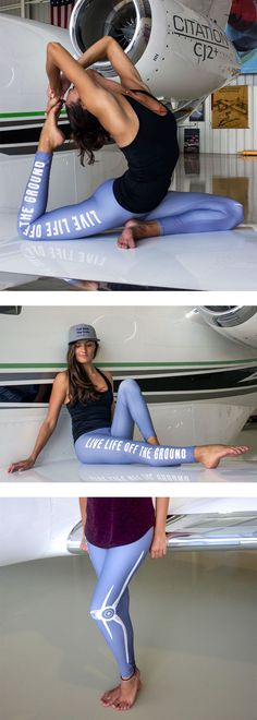 Flaunt your love of flight with these one of a kind leggings. Available in 6 different colors your sure to find one you love. Airplane Outfits, What To Wear, Aviation, Sporty, Leggings, School, Colors, Collection, Style