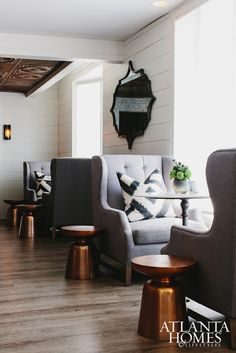 CAPE DUTCH Designer Kelly Wolf Anthony created an airy and sophisticated feel with clean lines, whites and dark woods. Paint Colors For Home, House Colors, Kelly Wolf, Cape Dutch, House Paint Color Combination, Upstairs Bedroom, Atlanta Homes, House Paint Exterior, Mid Century House