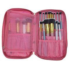 b08fb36cc35 BestFire Professional Makeup Brush Bag Organizer Makeup Artist Case Travel  Brush Bag with Belt Strap Holder