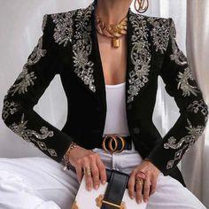 Blazer Fashion, 50 Fashion, Fashion Outfits, Womens Fashion, Jackets Fashion, Style Fashion, Office Fashion, Style Casual, Casual Wear