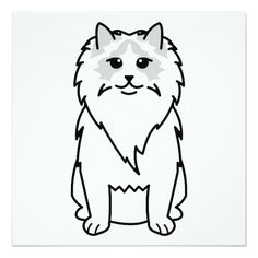 Ragdoll Cat Cartoon Announcement