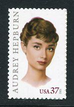 Audrey Hepburn - Single Stamp 9th in Legends of Hollywood Series United States, 2003
