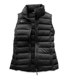 The North Face Women's Stretch Down Vest hiking gear survival tools Puffer Vest Outfit, Black Puffer Vest, Vest Outfits, Black Vest Outfit, Sporty Outfits, North Face Women, The North Face, Black North Face Vest, Trekking Outfit