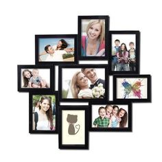 High-end Decorative Black Wood Collage Picture Photo Frame with Glass Front, Multiple Coating, and Scraping Color (Adeco Black Wall Hanging Photo Frame), Size (Plastic) Collage Picture Frames, Collage Frames, Picture Wall, Picture Photo, Multi Photo, Creative Decor, Home Decor Wall Art, Decoration, Photos