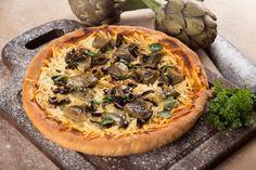 Pizza de alcauciles y feta - Maru Botana