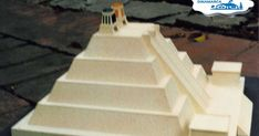 Maqueta del Templo Mayor Pyramid School Project, Tabletop Fountain, School Projects, Origami, Stairs, Gallery, Home Decor, Paper, Denmark
