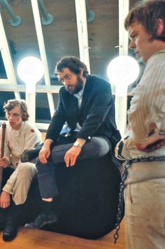 On the set of A clockwork Orange with Stanley Kubrick