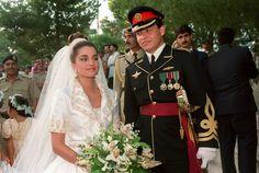 10 June 1993: Rania Al Yassin marries Prince Abdullah bin Al-Hussein of Jordan.