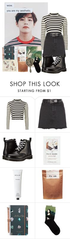 """Untitled #465"" by danielagreg ❤ liked on Polyvore featuring Topshop, New Look, Dr. Martens, Taschen, H&M, Rodin, Paul Frank and Ted Baker"