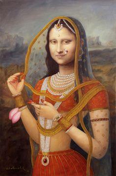 Bani Thani: Dressing up Mona Lisa in Rajasthani miniature art