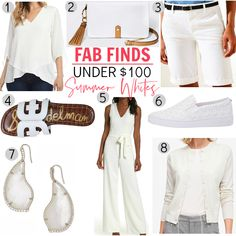 Today, I've rounded up 8 Fab Finds under $100 that are crisp, bright whites to keep your look fresh and modern this summer.  #womensfashion #summerstyle #fashionover40 Fashion Over 40, 50 Fashion, Womens Fashion, White Outfits, Summer Outfits, Casual Outfits, Summer Fashion Trends, Color Block Sweater, Street Chic