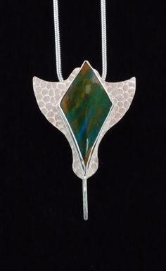 SassyK Designs  Peruvian Opal on Sterling Silver  Ray Pendant I Created