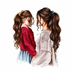 Mothers day mother and daughter mom and daughter mothers day gift girls room mum. - Mothers day mother and daughter mom and daughter mothers day gift girls room mum and daughter fashi - Mother And Daughter Drawing, Mother Art, Mom Daughter, Mother And Child, Best Friend Drawings, Girly Drawings, Sarra Art, Sitting Girl, Megan Hess
