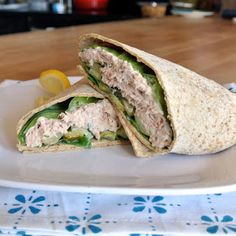 Mom, What's For Dinner?: Low Calorie Tuna Salad Wrap