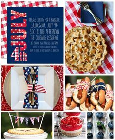 There's nothing better than classic red, white and blue. Get inspiration in our new 4th of July party board!