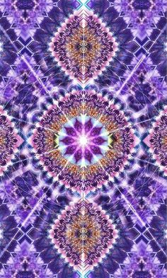 fractal in purple Fractal Design, Fractal Art, Psychedelic Art, Purple Haze, Shades Of Purple, All Things Purple, Visionary Art, Beautiful Patterns, Sacred Geometry