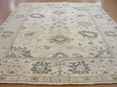 10 x 14 OUSHAK Style Hand Knotted Soft Wool IVORY NEW Oriental Rug Carpet #TraditionalTurkishOriental