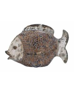 Ceramic Fish Statue Urban Decor - Crafted from high quality ceramic material gives it a striking and urban look. It is said that placing a fish statue in living room brings positive energy, wealth, and good vibes.