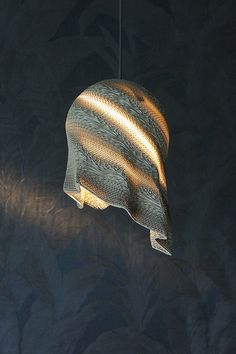 Sphere Drape   Pendant Lampshade In Corrugated Cardboard Designed By LetoLab