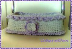 Beautiful Crochet Handmade Basket ,Home Decor by LindagurumiStore #crochetbasket #basket #girlgift #homedecor #lindagurumistore Hey, I found this really awesome Etsy listing at https://www.etsy.com/listing/500546095/beautiful-crochet-handmade-basket-home