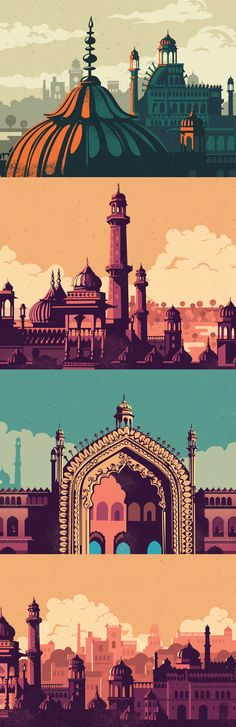 elegant and rooted in a rich culture. So when we were approached to brand & launch a new mall in Lucknow, we decided to make it contextual and memorable, by drawing inspiration from Lucknows glorio… Graphic Illustration, Graphic Art, Affinity Designer, Grafik Design, Illustrations And Posters, Indian Art, Graphic Design Inspiration, Travel Posters, Vector Art