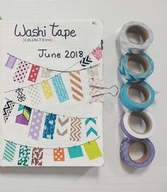 Bullet Journal Setup Ideas {The layouts your BUJO might be missing!} BUJO Washi Tape Collection Bullet Journal Setup Ideas {The layouts your BUJO might be missing! Washi Tape Planner, Washi Tape Cards, Washi Tape Diy, Duct Tape, Washi Tape Notebook, Masking Tape Art, Washi Tapes, Bullet Journal Tracking, Bullet Journal Washi Tape