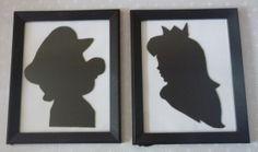 Super Mario & Princess Peach Framed Cameos for the Nursery