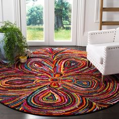 Rag Rug, Floral Area Rugs, Boho Rug, Online Home Decor Stores, Diy Rug, Rugs, Abstract Rug, Multicolored Rugs, Rugs Online