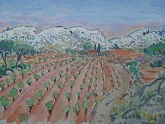 Watercolor of Provence.  Marcel Serraillier   serraillier@aol.com