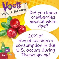 Fun facts about #cranberries, the Voots Fruit of the Week