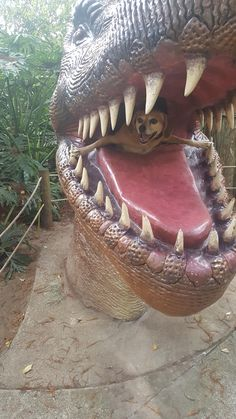 visit www.amazingdogtales.com for the best funny dog joke pics,inspirational dog stories and dog news.... Took doggos to Dinosaur World. I think they had a blast.