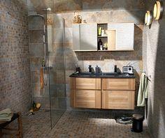 Salle de bains sur pinterest chats salles de bains gris - Meuble salle de bain castorama ...