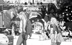 Сообщество иллюстраторов | Иллюстрация Light - Ghost Town. Графика,