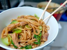 Shanghai stir-fried chunky noodles by Fuchsia Dunlop from 'Land of Fish and Rice'
