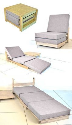 Great guest bed; Tiny House Furniture – For the very small home | http://www.godownsize.com/tiny-house-furniture-small-space/