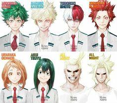 My Hero Academia// Izuku Midoriya//Katsuki Bakugo//Todoroki Shoto// Kirishima Eijirou//Ochako Uraraka//Tsuyu Asui//All Might//Toshinori Yagi Boku No Hero Academia, My Hero Academia Memes, Hero Academia Characters, My Hero Academia Manga, Anime Characters, Anime Meme, Otaku Anime, Manga Anime, Anime Art