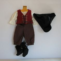 Pirate Outfit for 18 inch doll by pirateoutfitter on Etsy