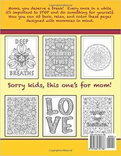 Amazon.com: Mom's Coloring Book: Inspirational and stress relieving designs for mothers. (Coloring for grownups) (Volume 16) (9781532721786): ZenMaster Coloring Books: Books