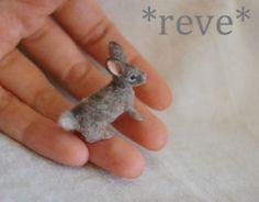 OOAK Realistic Miniature ~ Desert Rabbit ~ Handmade Dollhouse 1:12 Sculptures | eBay