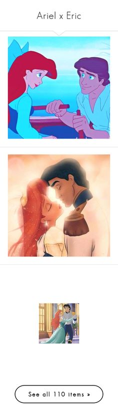 """Ariel x Eric"" by bambolinadicarta-1 ❤ liked on Polyvore featuring disney, thelittlemermaid, ariel, LoveStory, eric, icons, backgrounds, blue pictures, the little mermaid and mermaid"